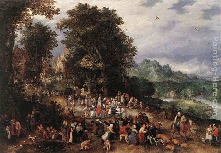 Jan the elder Brueghel A Flemish Fair